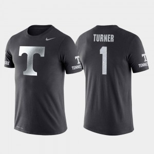 Travel Mens Anthracite College Basketball Performance Lamonte Turner Tennessee Vols T-Shirt #1