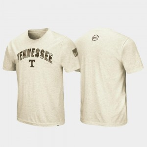 For Men's Tennessee Volunteers T-Shirt Desert Camo OHT Military Appreciation Oatmeal