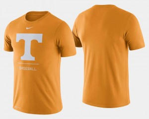 Tennessee Volunteers T-Shirt College Baseball Dugout Performance Tennessee Orange For Men's