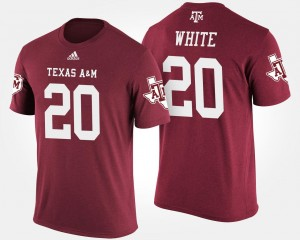 Name and Number #20 James White Texas A&M Aggies T-Shirt Men's Maroon