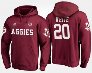 #20 James White Texas A&M Aggies Hoodie Mens Maroon Name and Number
