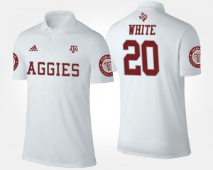 White For Men Name and Number #20 James White Texas A&M Polo