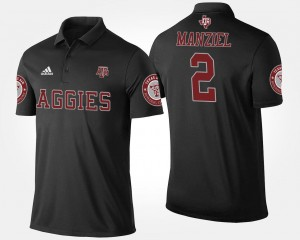 #2 Black Johnny Manziel Texas A&M Aggies Polo Name and Number For Men