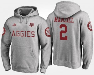 Gray Johnny Manziel Texas A&M Hoodie Name and Number Mens #2