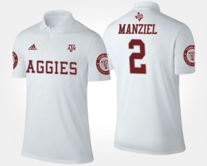Johnny Manziel TAMU Polo For Men's #2 Name and Number White