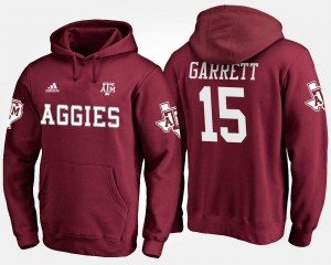 Maroon #15 For Men Myles Garrett Texas A&M Aggies Hoodie Name and Number