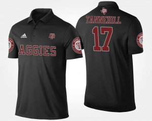 Black #17 Name and Number Ryan Tannehill Aggies Polo Mens