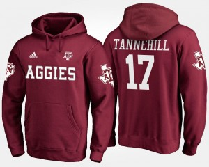 #17 Name and Number Maroon For Men's Ryan Tannehill Texas A&M Aggies Hoodie
