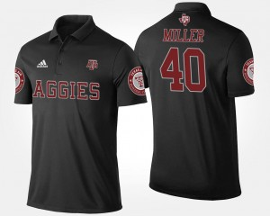 Black Name and Number #40 Von Miller Texas A&M University Polo Men