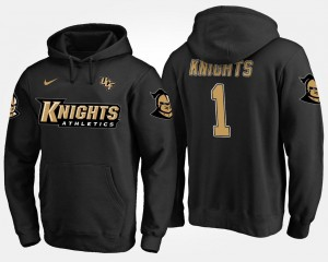 Mens Name and Number Black No.1 #1 University of Central Florida Hoodie