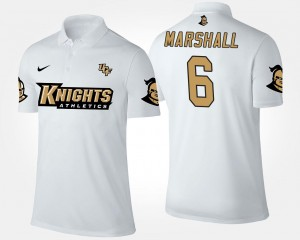 Brandon Marshall UCF Knights Polo For Men White Name and Number #6