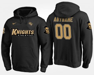 #00 Men Name and Number UCF Knights Customized Hoodie Black