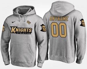 #00 University of Central Florida Custom Hoodies Name and Number Men's Gray