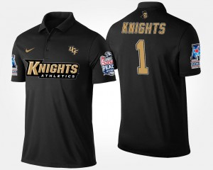 Knights Polo For Men Navy #1 No.1 American Athletic Conference Peach Bowl Name and Number Bowl Game