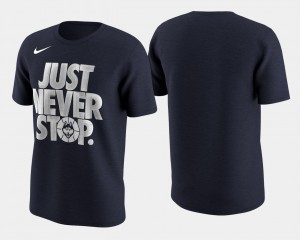 For Men Navy March Madness Selection Sunday Huskies T-Shirt Basketball Tournament Just Never Stop