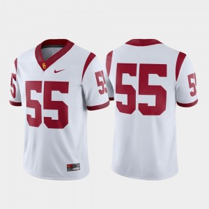 Mens Game Trojans Jersey #55 White College Football Nike