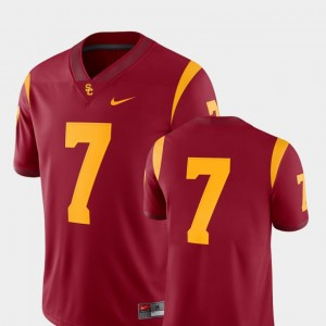 Cardinal 2018 Game Nike College Football For Men's USC Trojans Jersey #7