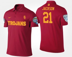 #21 Men's Adoree' Jackson Trojans Polo Pac 12 Conference Cotton Bowl Name and Number Bowl Game Cardinal