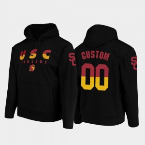 #00 USC Customized Hoodies Black Wedge Performance For Men's College Football Pullover
