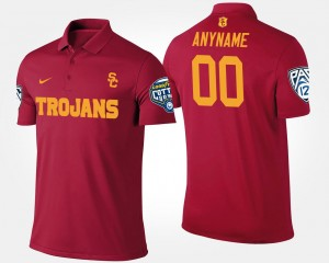Cardinal #00 Pac 12 Conference Cotton Bowl Name and Number USC Custom Polo Bowl Game Men