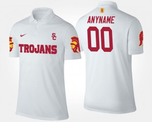 White For Men #00 USC Custom Polo Name and Number