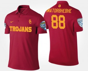 Bowl Game Pac 12 Conference Cotton Bowl Name and Number For Men's Cardinal Daniel Imatorbhebhe USC Polo #88