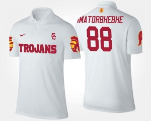 For Men's Daniel Imatorbhebhe USC Polo #88 White Name and Number