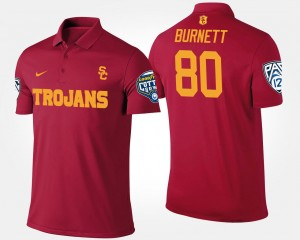 Deontay Burnett USC Polo Pac 12 Conference Cotton Bowl Name and Number Mens #80 Cardinal Bowl Game