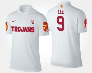 White Name and Number Marqise Lee USC Polo #9 For Men's