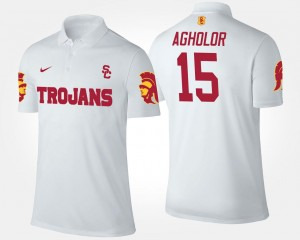 Nelson Agholor USC Polo White Name and Number For Men #15