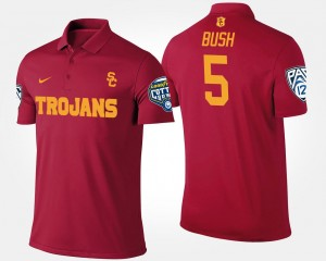 Reggie Bush USC Polo Bowl Game Cardinal #5 Mens Pac 12 Conference Cotton Bowl Name and Number