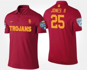 #25 Ronald Jones II USC Polo Men Cardinal Pac 12 Conference Cotton Bowl Name and Number Bowl Game