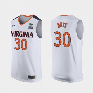 For Men 2019 Final-Four Jay Huff Virginia Cavaliers Jersey White Replica #30