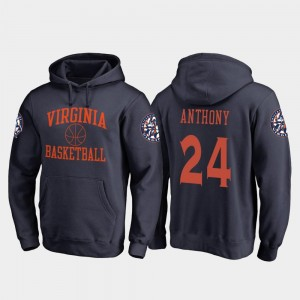 For Men #24 Navy In Bounds Fanatics Branded College Basketball Marco Anthony Virginia Hoodie