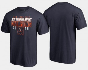 Navy Basketball Conference Tournament Virginia Cavaliers T-Shirt Mens 2018 ACC Champions
