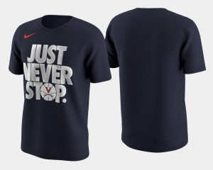 UVA T-Shirt Navy March Madness Selection Sunday Basketball Tournament Just Never Stop Men