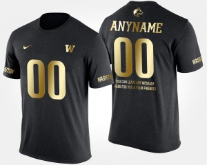 Gold Limited For Men Short Sleeve With Message Washington Customized T-Shirt #00 Black