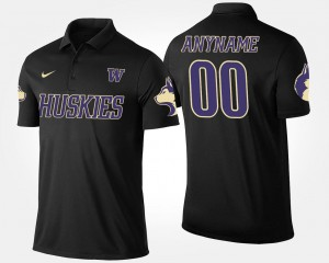 For Men's #00 Washington Customized Polo Name and Number Black