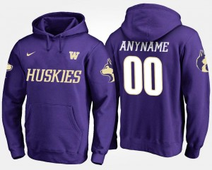UW Customized Hoodies #00 Name and Number For Men's Purple