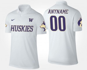 #00 UW Customized Polo For Men Name and Number White