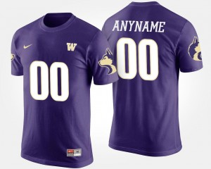 Name and Number UW Custom T-Shirts #00 T shirt For Men Purple