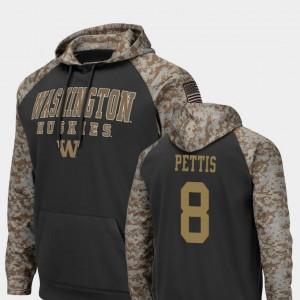 Charcoal Colosseum Football #8 Dante Pettis UW Hoodie United We Stand For Men's