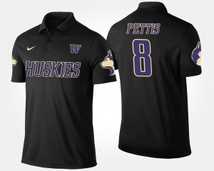 Name and Number Dante Pettis UW Polo Mens Black #8