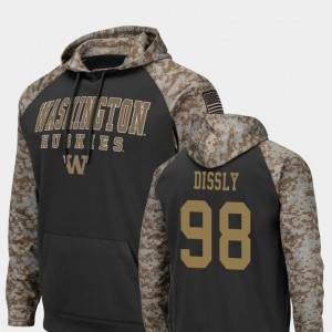 United We Stand #98 Colosseum Football Will Dissly University of Washington Hoodie Men Charcoal