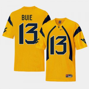 Replica College Football #13 Mens Andrew Buie West Virginia Jersey Gold