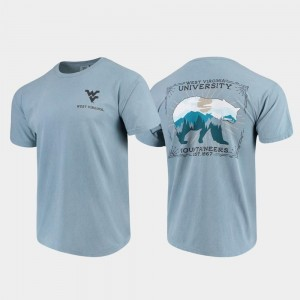 State Scenery Blue Comfort Colors For Men's WVU T-Shirt