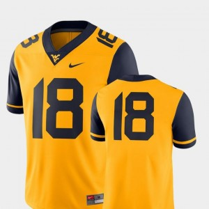 #18 Gold 2018 Game Nike College Football Mens Mountaineers Jersey