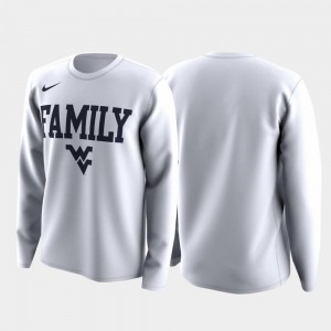 March Madness Legend Basketball Long Sleeve Family on Court For Men White West Virginia T-Shirt