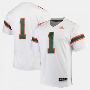 For Men #1 White 2017 Special Games Miami Jersey
