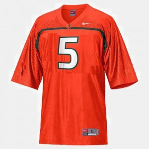 #5 Orange Andre Johnson Hurricanes Jersey College Football Youth(Kids)